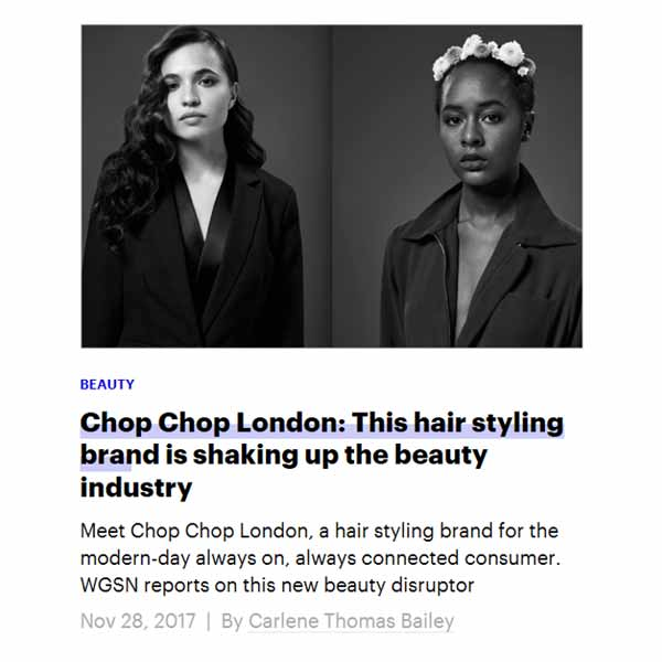 chop chop press WGSN magazine