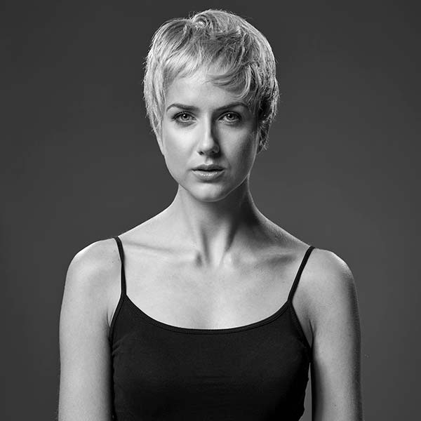Woman with pixie hair